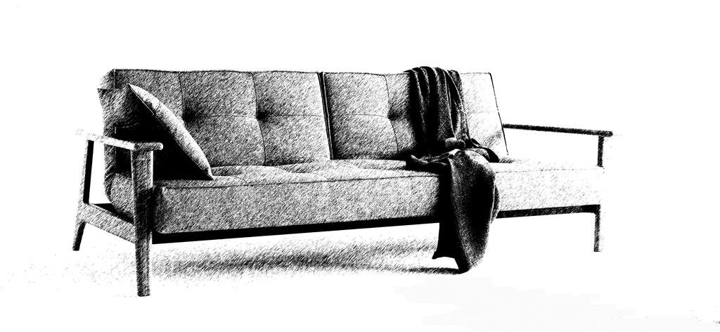 Splitback Frej sofa